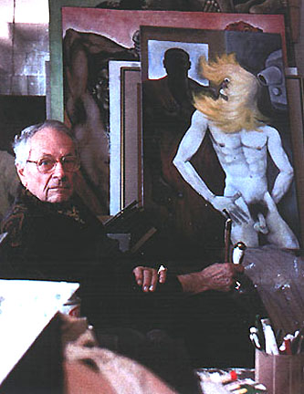 Peter Flinsch in his studio